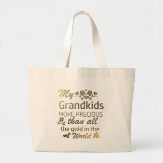 Love my Grandkid designs Large Tote Bag