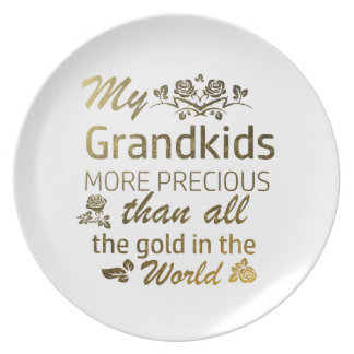 Love my Grandkid designs Plate