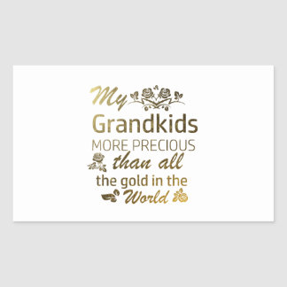 Love my Grandkid designs Rectangular Sticker