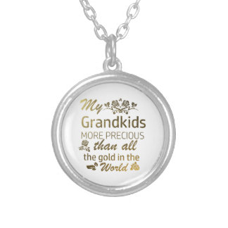 Love my Grandkid designs Silver Plated Necklace
