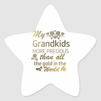 Love my Grandkid designs Star Sticker