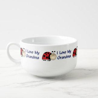 Love My Grandma - Ladybug Soup Bowl With Handle