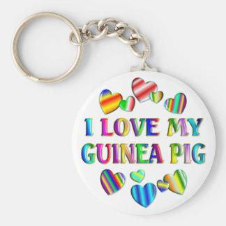 Love My Guinea Pig Keychain