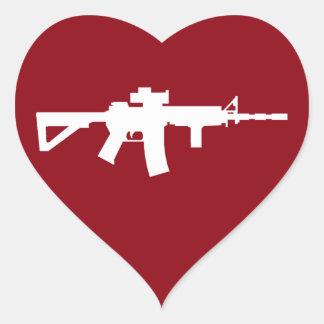 Love My Guns Heart Sticker