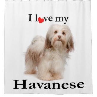 Love My Havanese Shower Curtain