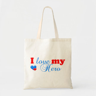 Love my Hero Tote Canvas Bag
