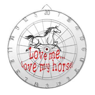 Love My Horse Dartboard With Darts