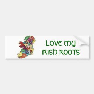LOVE MY  IRISH ROOTS BUMPER STICKERS