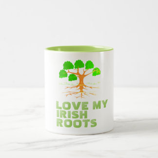 Love My Irish Roots - Two-Tone Coffee Mug