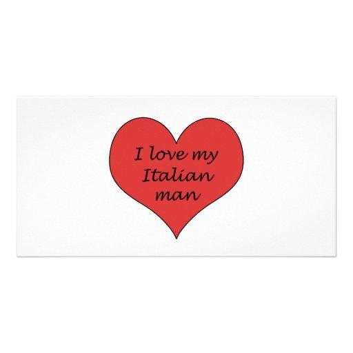 Love My Italian Man Customized Photo Card