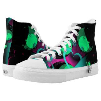 love my kicks printed shoes