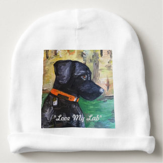 """Love My Lab"" Baby Hat Baby Beanie"