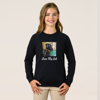"""Love My Lab"" Sweet Black Lab Kid's Long t-Shirt"