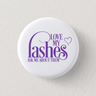 Love my lashes - Younique 3 Cm Round Badge