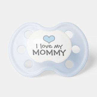 Love My Mommy   Custom Baby Pacifier in Blue