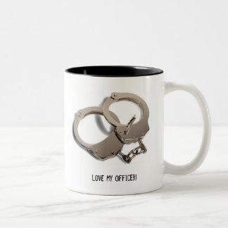 Love my officer! Two-Tone coffee mug