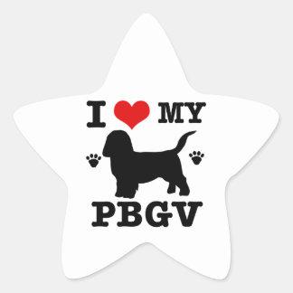 Love my PBGV Star Sticker