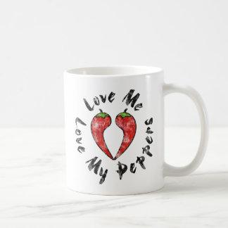 Love My Peppers Coffee Mug
