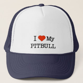 Love My Pitbull Trucker Hat