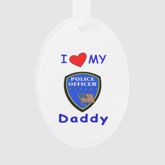 Love My Police Daddy Ornament