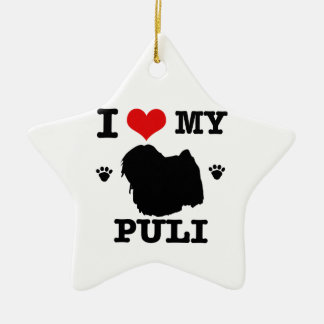 Love my Puli Ceramic Ornament