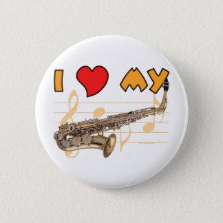 Love My Sax 6 Cm Round Badge