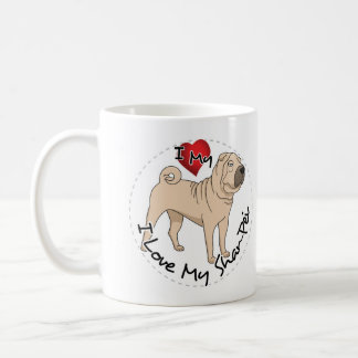 Love My Shar Pei Coffee Mug