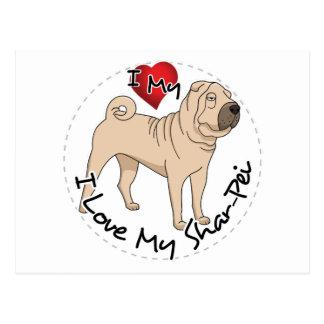 Love My Shar Pei Postcard