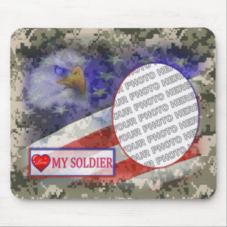 Love My Soldier Photo Mousepad