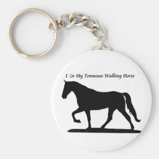 Love My Tennessee Walking Horse Keychain