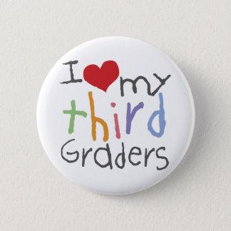 Love My Third Graders 6 Cm Round Badge