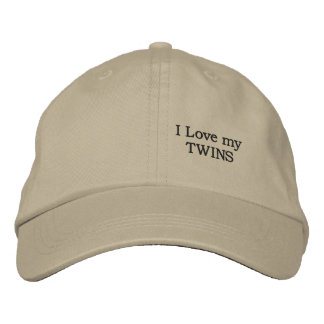 love my TWINS Embroidered Hat