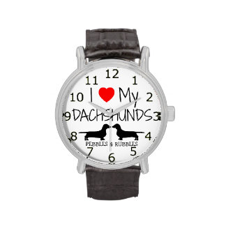 Love My Two Dachshunds Watches