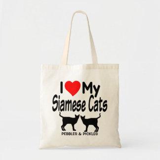 Love My Two Siamese Cats Tote Bag