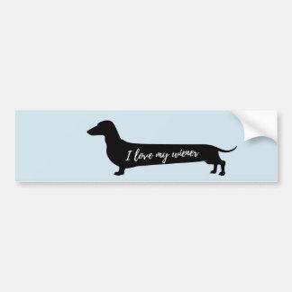Love my wiener dog bumpersticker bumper sticker