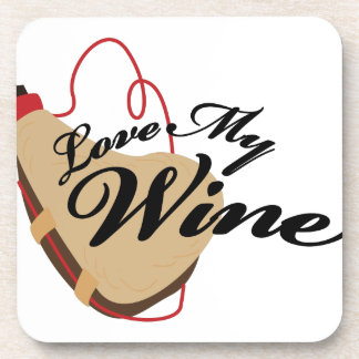 Love My Wine Drink Coasters