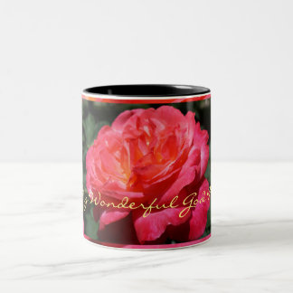 Love my wonderful God Mother Coffee mugs gift Rose