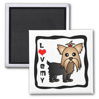 Love My Yorkshire Terrier Square Magnet