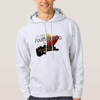 Love Nashville from South Dakota Hooded Sweatshirt