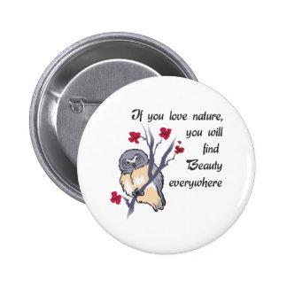 Love Nature 6 Cm Round Badge
