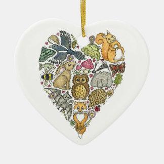 Love Nature Ceramic Heart Decoration