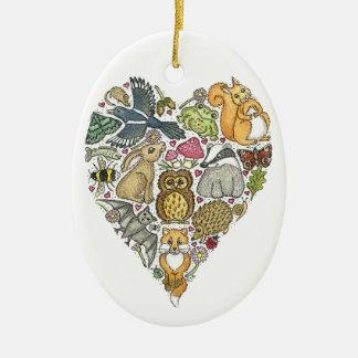 Love Nature Ceramic Oval Decoration