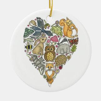 Love Nature Round Ceramic Decoration