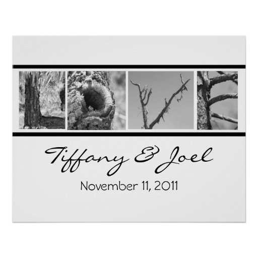 Love:Nature  Wedding Poster with names and date