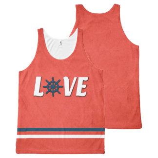 Love nautical design All-Over print singlet