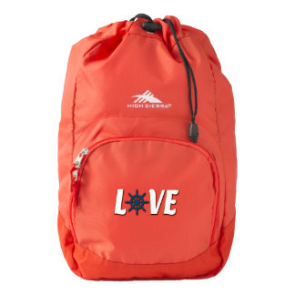 Love nautical design backpack