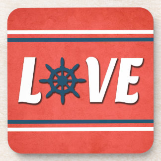 Love nautical design coaster
