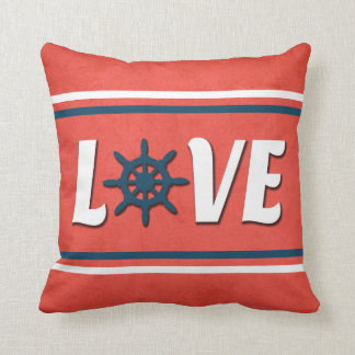 Love nautical design cushion