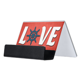 Love nautical design desk business card holder