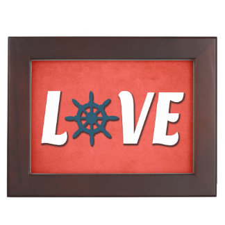 Love nautical design keepsake box